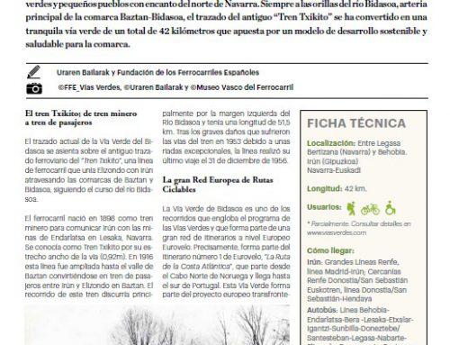 """Espainiako Udalerrien eta Probintzien Federazioak (FEMP) artikulu bat idatzi du bere """"Carta Local"""" aldizkarian Bidasoako Natura Bideari buruz"""