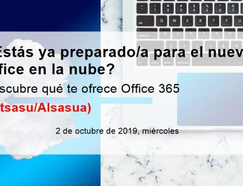 Club de Marketing eta Cederna Garalur Elkarteak Office 365 programari buruzko hitzaldiak antolatu dituzte