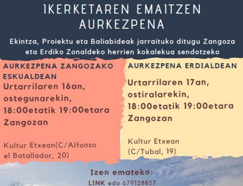 Zangozako Eskualdeko despopulazioaren azterketari buruzko ondorioen aurkezpena.