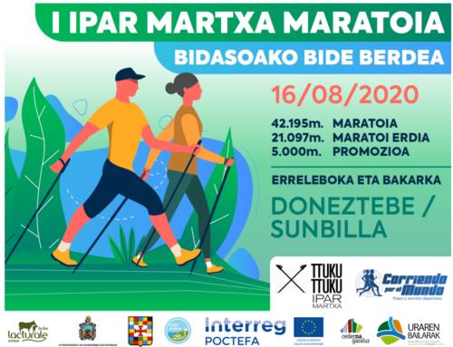 Asteburu honetan ezagutu Ederbidea Bidasoako Natura Bideko martxa nordikoko maratoiaren bidez.