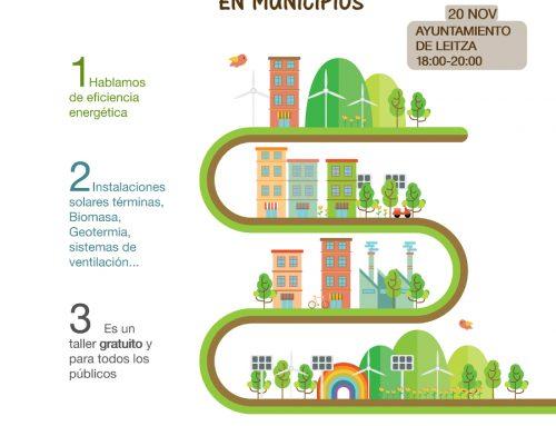 Cederna Garalur organiza dos talleres sobre Redes de Climatización Urbana en Municipios.
