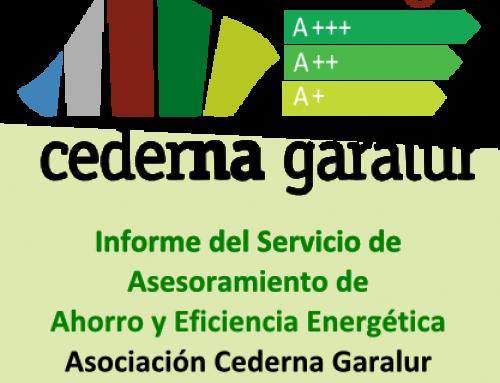 Energia Cederna Garalur. Informe del Servicio de Asesoramiento para el Ahorro y la Eficiencia Energética de Cederna Garalur. Años 2015-2017