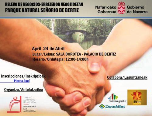 Jornadas sobre relevo en los negocios en Bertiz el día 24 de Abril.