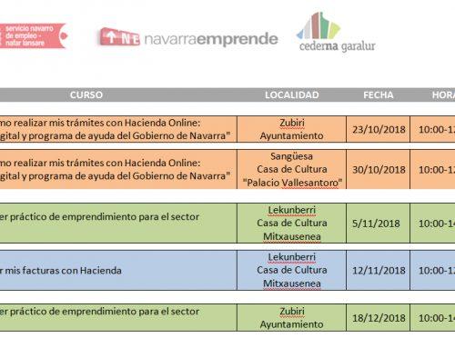 Cederna Garalur organiza 5 cursos para empresas en el último trimestre del año.