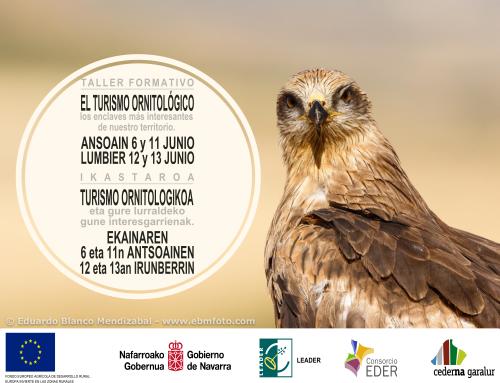 Cederna Garalur organiza dos talleres sobre turismo ornitológico y los enclaves más interesantes de la Montaña de Navarra.
