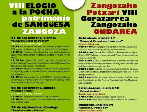 Charla sobre economía circular y agricultura en la inauguración de las VIII Jornadas del Elogio de la Pocha de Sangüesa.