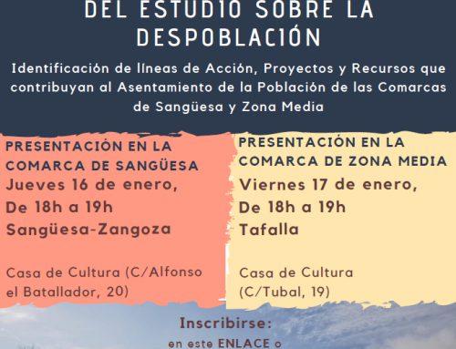 Presentación de las conclusiones sobre el estudio de despoblación en la Comarca de Sangüesa.