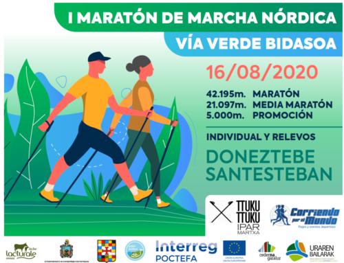 Este fin de semana descubre Ederbidea a través de la Maratón de Marcha Nórdica de la Vía Verde del Bidasoa.