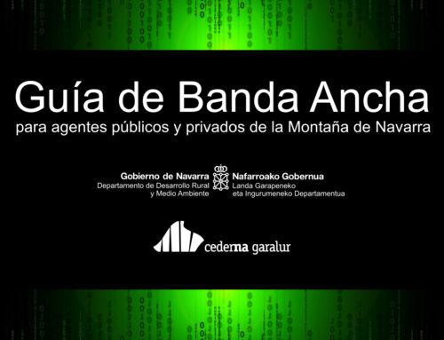 Cederna Garalur publica una guía gratuita sobre la banda ancha dirigida a entidades públicas y ciudadanía de la Montaña de Navarra.