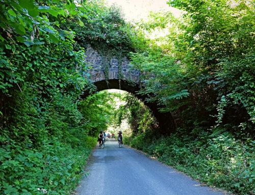 El ayuntamiento de Igantzi y Uraren Bailarak acondicionan los caminos naturales del Bidasoa.