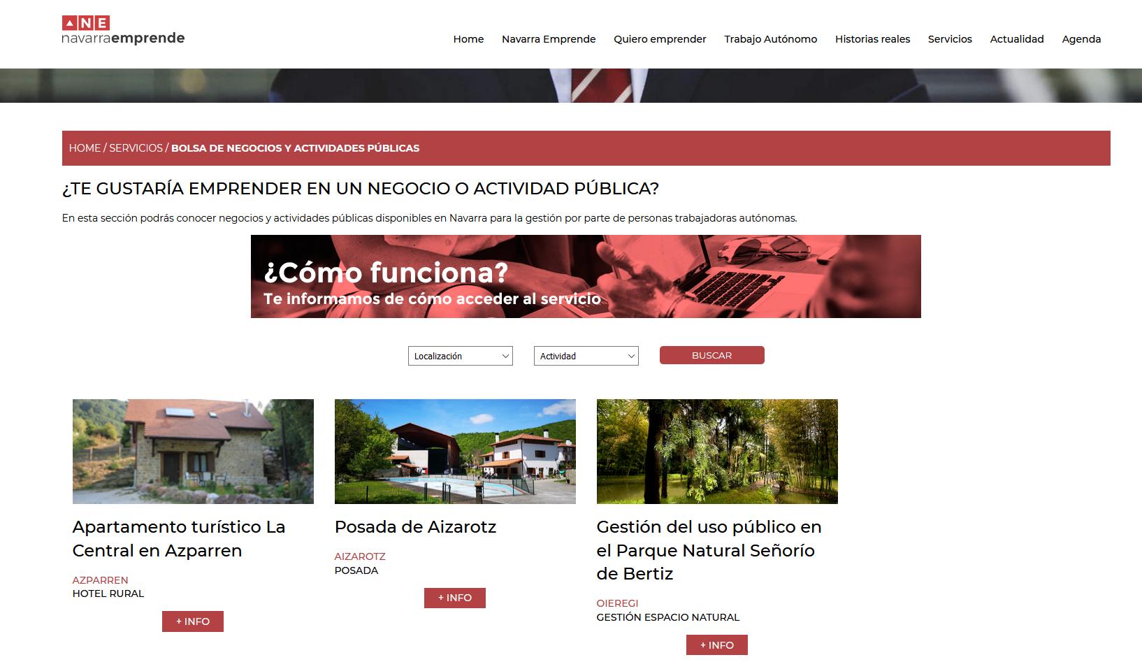 Cederna Garalur promueve una bolsa online de negocios y actividades de titularidad pública disponibles para gestionar.