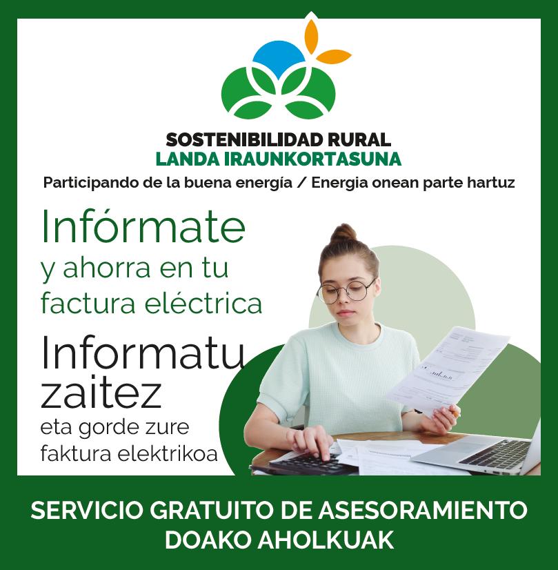 Cederna Garalur ayuda a ahorrar en la factura eléctrica.